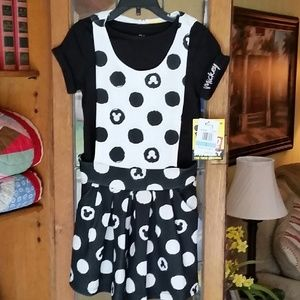 NWT Disney's Mickey Mouse Romper with T-shirt